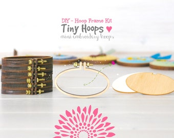 DIY Mini Embroidery Hoop Frame - 62mm x 34mm Oval Embroidery Hoop - Miniature Embroidery Hoops - DIY Tiny Hoop Kit - Mini Oval Hoop Frame