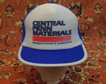 Vintage Central Penn Materials Trucker Hat // Retro // Snap-back // 80s // Mesh // Baseball Cap