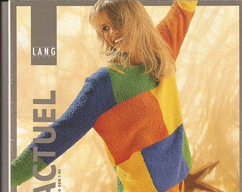 Coton Actuel Lang Yarns Knitting and Crochet Pattern Book 21 Designs in 3 Languages - German, French & English