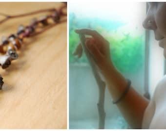 eucalyptus seed pod necklace,seeds, earthy wooden seed pod,