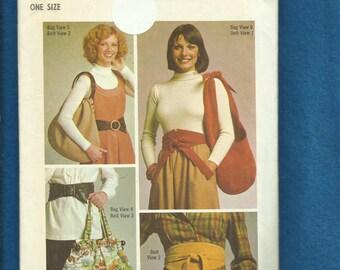 1975 Simplicity 7018 Retro Hobo Bags Purses Sash & Belt