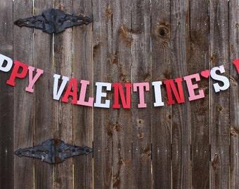 Valentines Day Decor, Happy Valentines Day Banner, Valentines Garland, Heart Banner, Valentine Decoration, Wedding Photo Prop, Love Banner