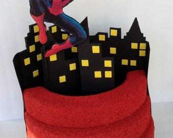 Spiderman Lollipop Stand - Cake Pop Stand -  Birthday Lollipop Holder - Cake Pop  Holder -Spiderman Party Decoration