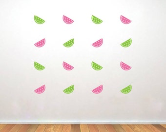 Set of Watermelon Vinyl Decals, Nursery Watermelon Decals, Kitchen Wall Decals