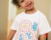 5/6, Kids Train Shirt, Kids Stocking Stuffer, Train Birthday Shirt, Train Track, Play Mat Shirt, Toddler Boy Shirt, Play Shirt, Play therapy