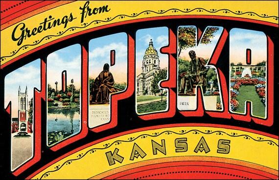 Topeka (KS) United States  city photo : Greetings from Topeka Kansas United States Postcard Vintage Mid ...