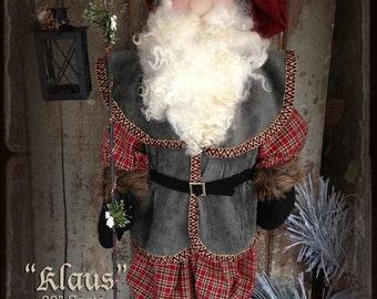 Pattern: Klaus Santa Doll by Sparkles N Spirit