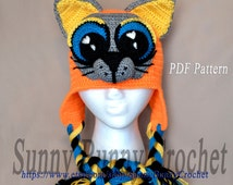 Popular items for cat earflap hat on Etsy