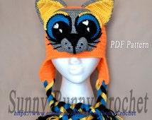 Grumpy Cat Crochet Hat Pattern Free : Popular items for cat earflap hat on Etsy