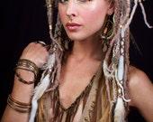 Tribal Dreaded Feather & Chain Headdress