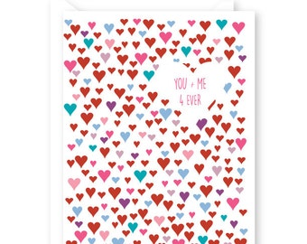Happy Valentine's Day Card, Love you, You plus me, single card