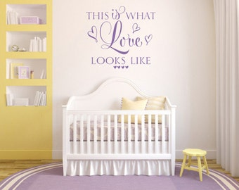 Wall decal bible . This is what love looks like - CODE 180