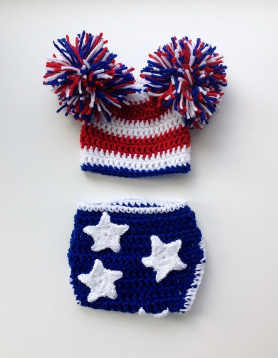 4th of July Newborn Outfit, 4th of July Baby Photo Prop, Crochet Patriotic  Outfit - 4th Of July Newborn Outfit 4th Of July Baby Photo Prop