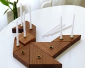 Hanukkah Menorah,Wooden modular judaica Tangram puzzle,hanukah decoration, Made in Israel, Chanukkah wooden menorah gift, Judaica art