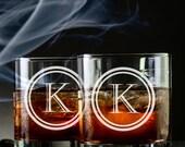 2 Custom Engraved Rocks Glasses 11 oz - Scotch Glasses - Whiskey Glass - Whiskey Lover - Wedding Gifts - Birthday Gift - Etched Glasses