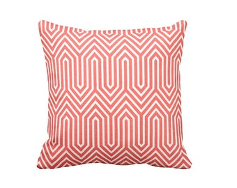 7 Sizes Available: Coral Throw Pillow Cover Decorative Pillow Geometric Pillow Coral Pillow Salmon Pillow Coral Cushion Cover Sofa Pillow