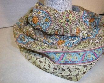 scarf,viscose,pailletten,blue,natur,for women,unikat,handmade from himmeldurchnadeloehr