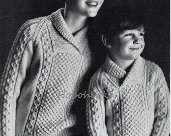 Childs Aran Hat Knitting Pattern : Baby toddler childrens aran cardigans aran jackets hat