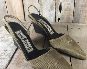 Anne Klein - Women Heels Wedges - wedge shoes Women Slingback Heels - Wedges shoes - Women Size: 8 Narrow