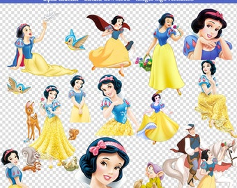 35 PNG Images Snow White-High Resolution-Instant Download