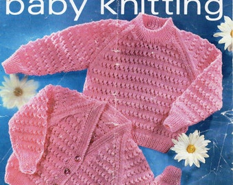 Baby Knitting Pattern Baby Sweater Baby Cardigan Baby Jumper Toddler Cardigan 18-22 inches DK  Baby Knitting Patterns PDF Instant Download