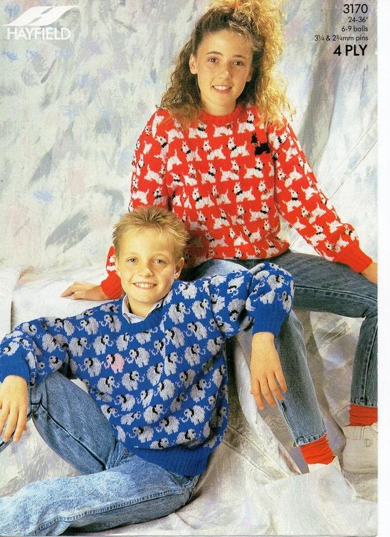 Elephant Pants Knitting Pattern : childrens sweater knitting pattern scottie dog motif elephant