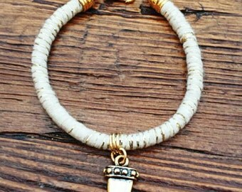 String Bracelet with shark tooth