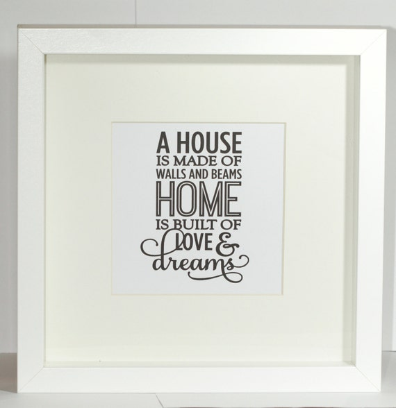Quotes New Home Extraordinary Framed Quote Printnew Home Gift Framemoving Gifthouse