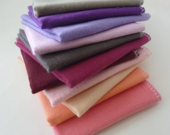 Purple Napkins - 20 Cloth Napkins -  Reusable Paper Towels - Unpaper Towels - 10 x 12 Single Layer