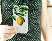 Lemon Botanical iPhone 8  Plus Case, iPhone 7, iPhone 6S Summer Fashion iPhone 5S Case Yellow, Summer Outdoors