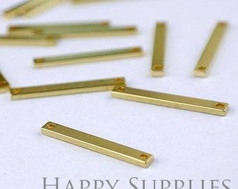 Last -100pcs Nickel Free -High Quality Raw Brass long bar Charm (Chain Optional) (ZG111)--Clearance Sale