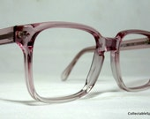 Vintage 80s Large Size Square Purple Pink Frames. Tart Regency Optical