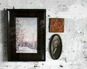 Vintage Glassed Frame and Painting