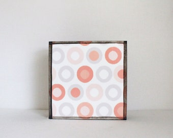 geometric nursery art, polka dot nursery art, gender neutral baby, childrens wall decor, geometric prints, nursery decor, redtilestudio