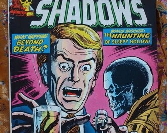 Crypt Of Shadows No 9 1974 Sleepy Hollow Horror Comic Terror Marvel Comics Half Man Beyond Death NM Condition