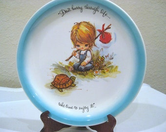 Vintage Plate - Gigi - Friendship - American Greetings - 1972 - Retro Signed Collector Plate