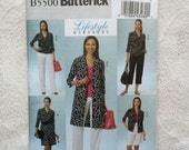Dress, Shorts, Pants and Shirt, Plus Size Sewing Pattern, Lifestyle Wardrobe by Butterick B5500 - Size 14 - 22