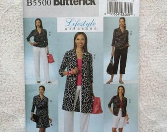 Dress, Shorts, Pants and Shirt, Plus Size Sewing Pattern, Lifestyle Wardrobe by Butterick B5500 - Size 14 - 22