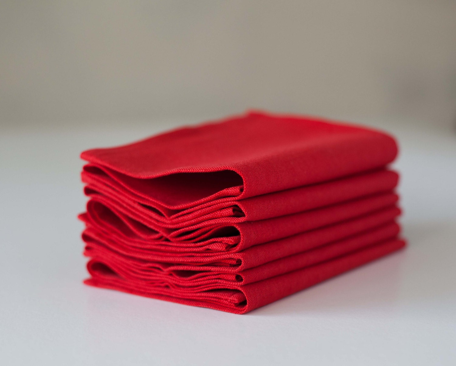 Red Napkins Linen Napkins Cloth Napkins Table By Pillowlink