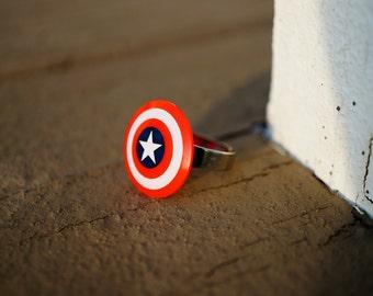 Captain America Shield Ring | Capt. America | Adjustable Captain America Shield Ring