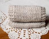 Knitted Headband, Beige Knit Headband, Knit Head Wrap, Knitted Ear Warmer,  Knit Hat Hair Wrap