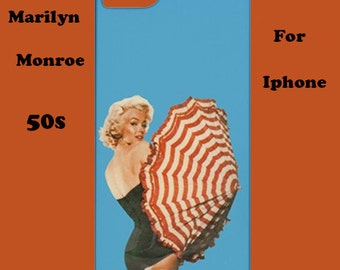 Marilyn Monroe iphone case, iphone case, 50's, cover, retro, iphone 6, iphone 5, cover, iphone 6 plus, iphone 4