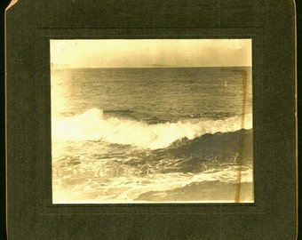 Ocean Surf - Seascape - Unusual Antique Cabinet Photo