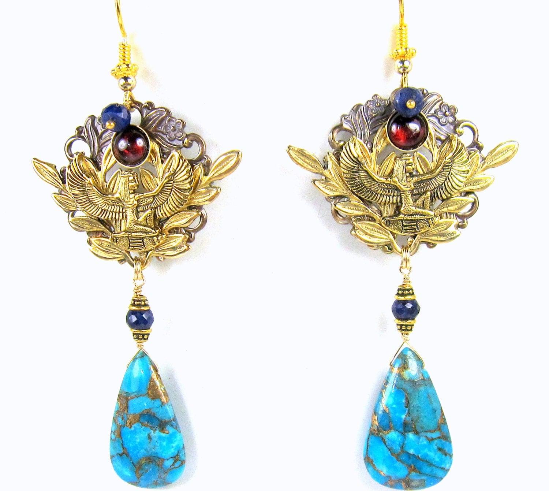 Egyptian jewelry egyptian earringsegyptian goddess earrings for Egyptian jewelry