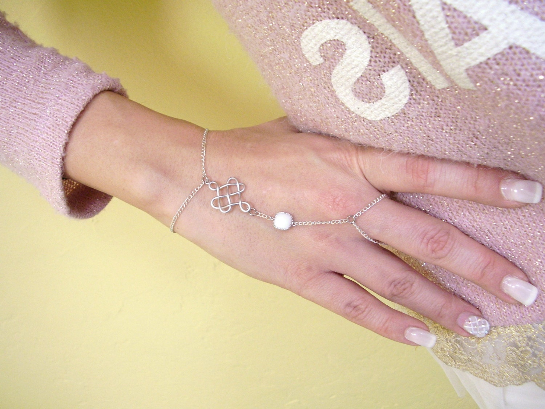 Etsy Chain Bracelet Bracelet Silver Hand Chain