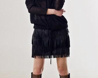 Black linen cardigan | Black linen hoodie | Summer cardigan | Oversized hoodie | Sheer cardigan | Black women's cardigan | MYLENE