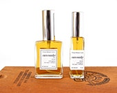 Sunsmoke Cologne - all natural organic smoky fragrance for men + women with tobacco, yuzu, aged wood, mimosa (1 ml sample, 8, 15, or 30 ml)