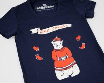 Screen print tshirt, graphic t shirt, silkscreen t-shirts, bear tshirt, american apparel tee, tshirt for ladies, soft tshirt, animal t shirt