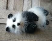 Panda bear stuffed animal bear plush bear plushie handmade cute panda kawaii panda animal lover gift panda toy black and white gift for her
