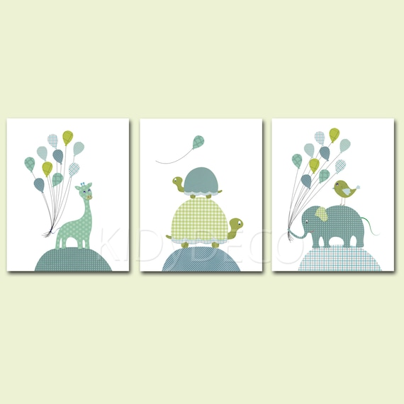Lot 3 illustrations pour chambre enfant de b b art decor for Chambre d enfant bleu